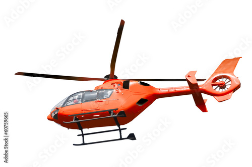 Poster Helicopter Rescue helicopter isolated
