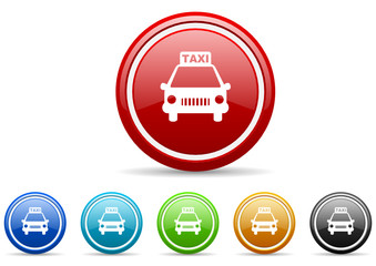 taxi icon vector set