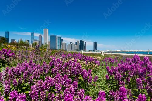 Canvas Grote meren City Flowers