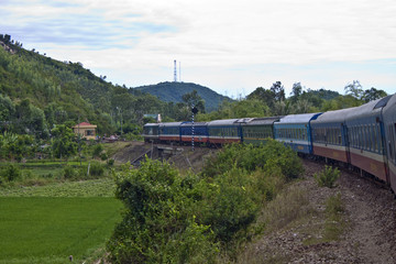 Train in southern Vietnam