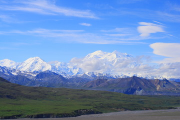 vista mount mckinley in alaska