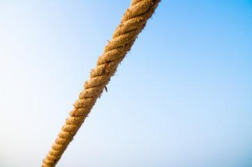Manila rope on blue sky