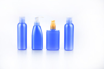 set of bottles for cosmetic