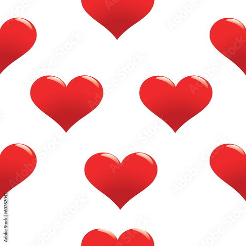Red heart seamless pattern