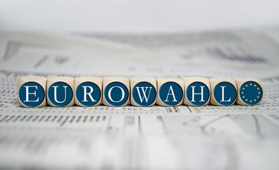 Würfel mit EUROWAHL 2014