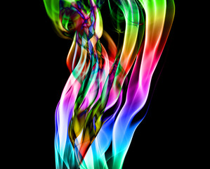 abstract colorful flames