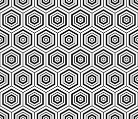 Hexagons texture. Seamless geometric pattern.