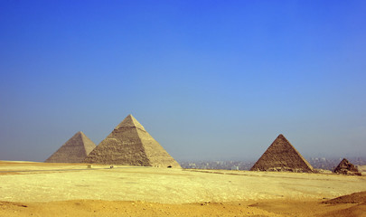 pyramids in Giza-Egypt