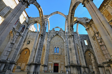 Ruins of cathedral in Lisbon