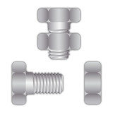 Bolt or screw with screw nut