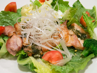 Chicken salad with shredded radish, Japanese Style