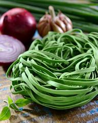 Fresh spinach Tagliatelle