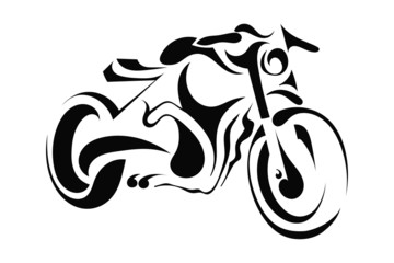 Motorbike on white background