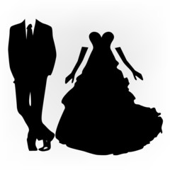 black wedding silhouettes