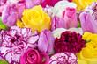 Obrazy na płótnie, fototapety, zdjęcia, fotoobrazy drukowane : Blumen - Tulpen und Rosen