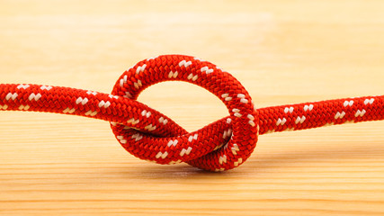 rope knot on wooden table