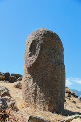 Menhirs with human faces at Filitosa archeological site