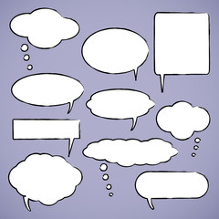 Chat bubbles vector illustration