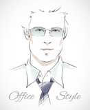 Stylish businessman portrait