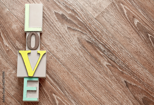 canvas print picture Colorful wooden letters love