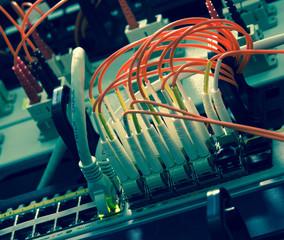 Fiber Optics with SC/LC connectors. Internet Service Provider eq