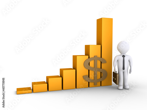 Businessman with a graphic chart