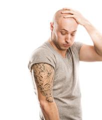 Man with tattoo