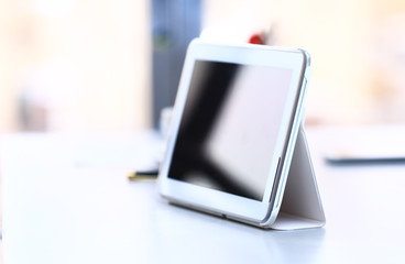 Digital tablet. Modern device for business and work.