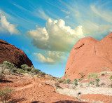 Colourful landscape of Australian Outback, Northern Territory