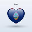 Постер, плакат: Love Guam symbol Heart flag icon