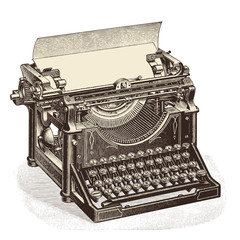 vintage typewriter with blank sheet of paper