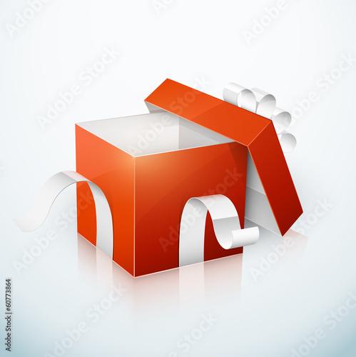 boîte cadeau rouge