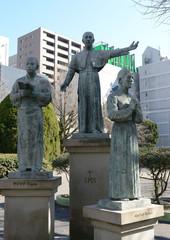 ザビエル公園の像