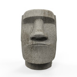 Moai Statue Isolated