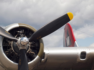 Details of a World War II B17 Bomber's Propellers