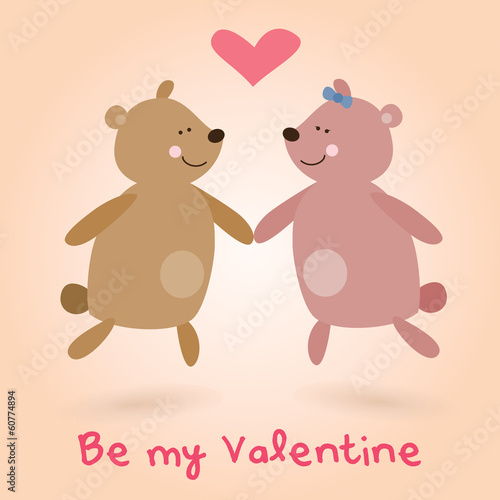 Valentine's Day lovely teddy bears