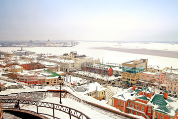 View on a city Nizhny Novgorod