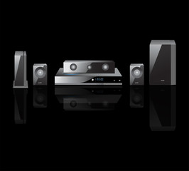 acoustics theater components  audio,  Remote Control, Speakers