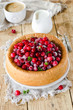 Sponge cake with cranberries