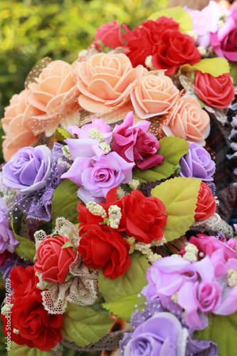 Beautiful headband with flower a variety in markets.