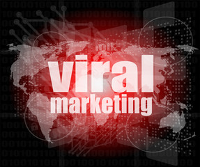 Marketing concept: words Viral Marketing on screen