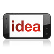 Advertising concept: Idea on smartphone