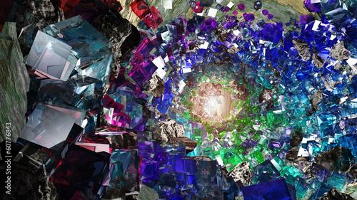 Leinwanddruck Bild Crystal cavern