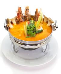 prawn and lemon grass soup with mushroom