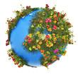 Mini Earth planet