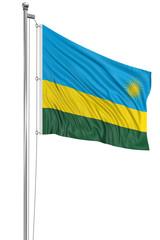 3D Rwanda flag