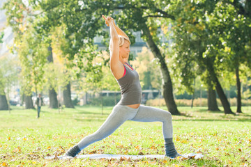 Yoga-Virabhadrasana/Warrior pose