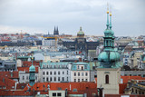 Skyline of Prague town in Czech Republic.