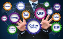 "Постер, картина, фотообои ""Online Marketing Concept"""