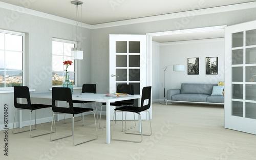 helles Wohn- und Esszimmer
